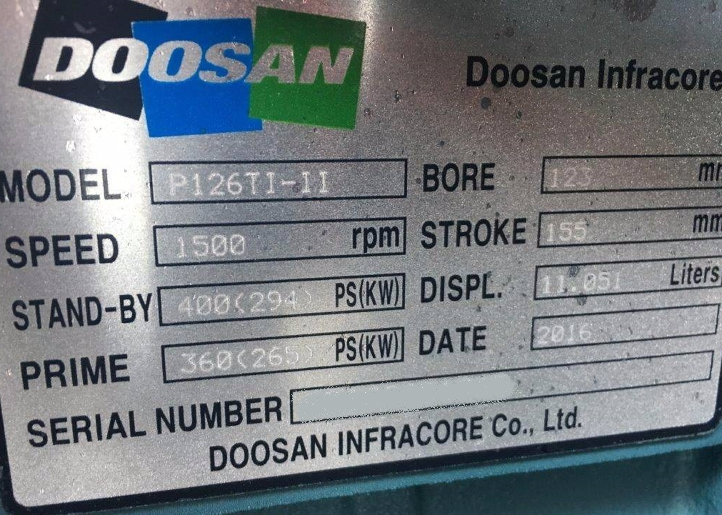 Promocja na wtryski do silnika DOOSAN P126Ti – II