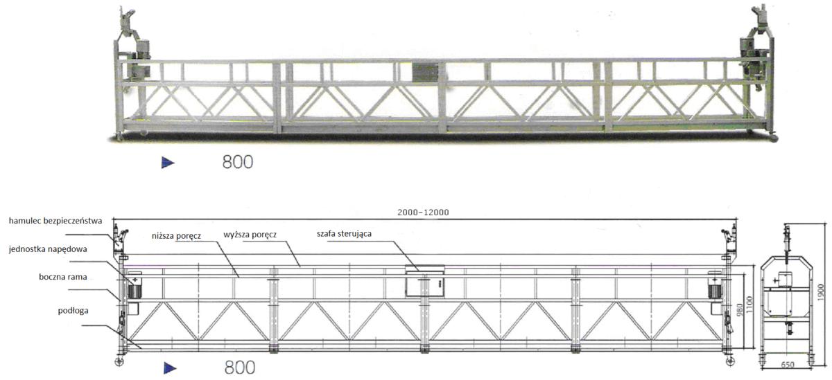 Platforma linowa – Podwieszany podest roboczy